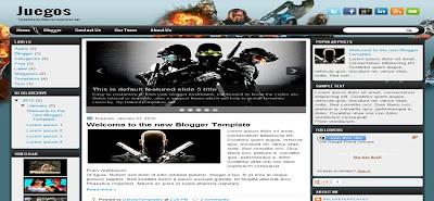 Blogger Template Gratis Juegos 3 Kolom