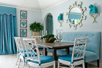 blue dining room decorating ideas