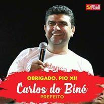 O PREFEITO ELEITO CARLOS DO BINÉ AGRADECE O POVO PELA VITÓRIA NAS URNAS