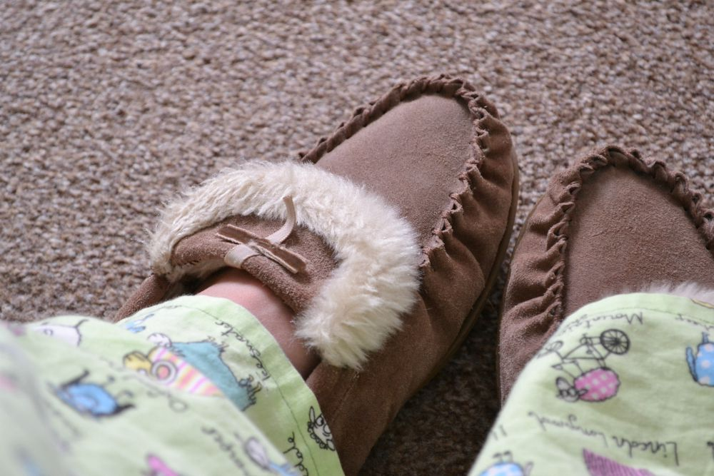 moccasins slippers sheep pyjamas