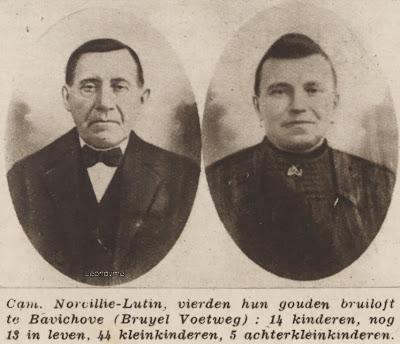 Het echtpaar Camille Norcillie-Lutin uit Bavikhove hadden 14 kinderen.