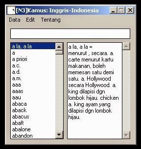 [N3] Kamus Bahasa Indonesia Inggris