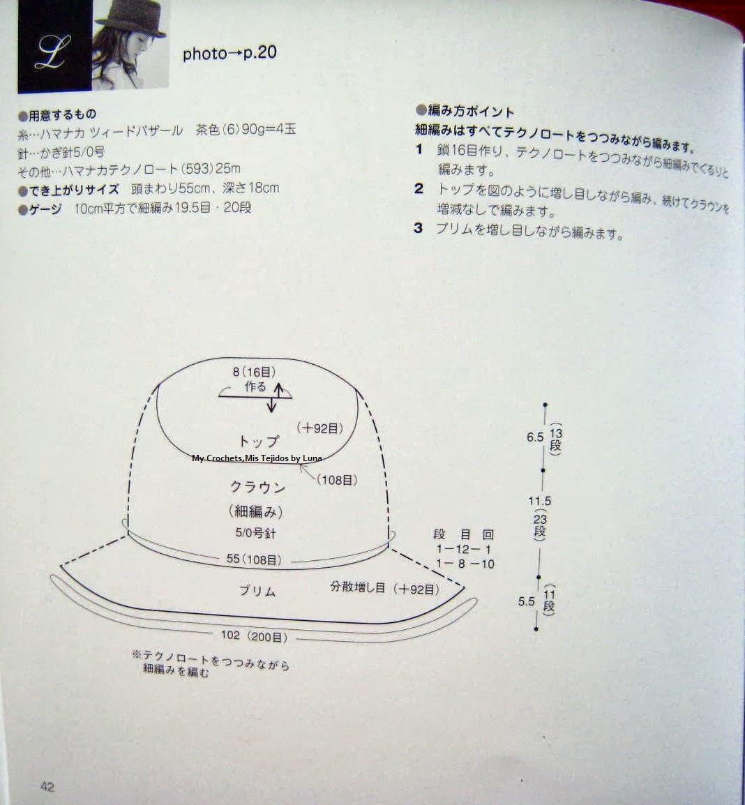 Sombrero para mujer / Woman Hat Pattern
