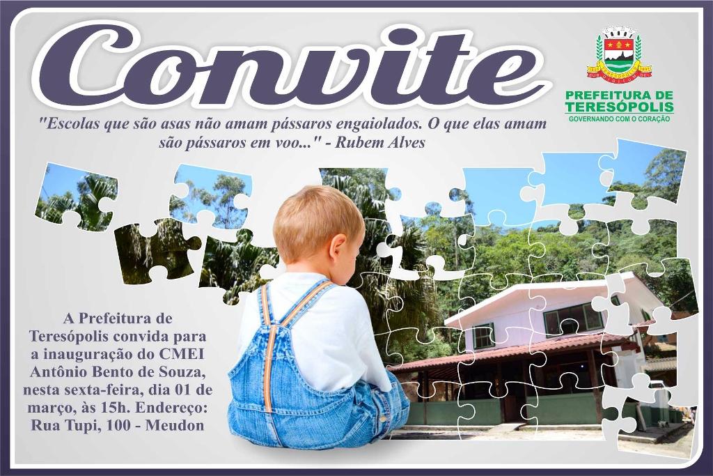 Inauguração Creche do Meudon,em Teresópolis RJ, nesta sexta, 1º