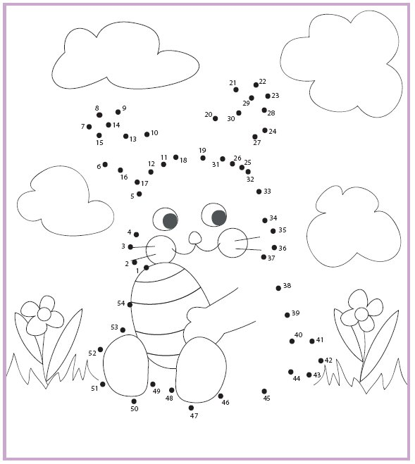 Coloring & Activity Pages: Easter Bunny Dot-to-Dot with Spring ...