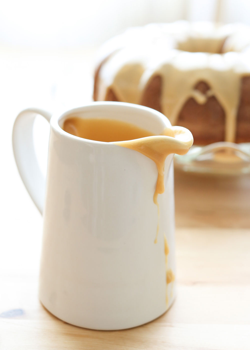 Creamy, rich, thick, Caramel Glaze Topping Recipe perfect for spooning over your favorite desserts!