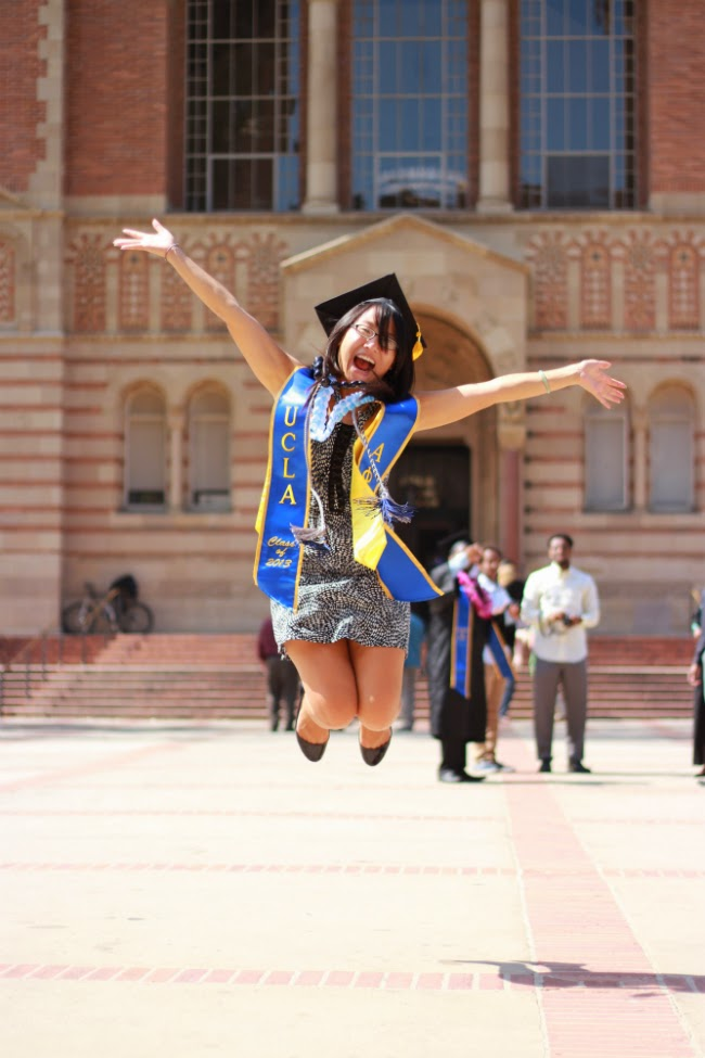 UCLA bruins graduation jumping class of 2013