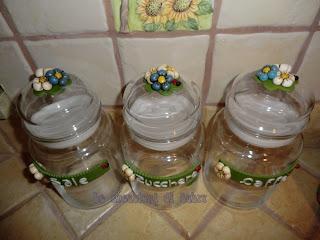 Le creazioni di sabry barattoli vetro sale zucchero e caff for Porta zucchero caffe sale