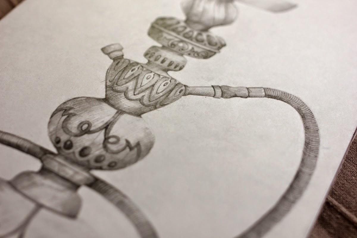 Рисунок кальяна. Елена Войнова