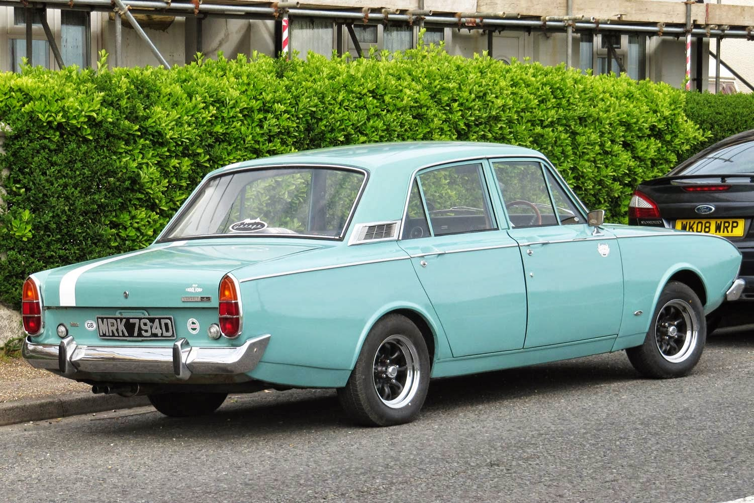 Vintage Car Spotting In Streets Of London Ford Corsair V4