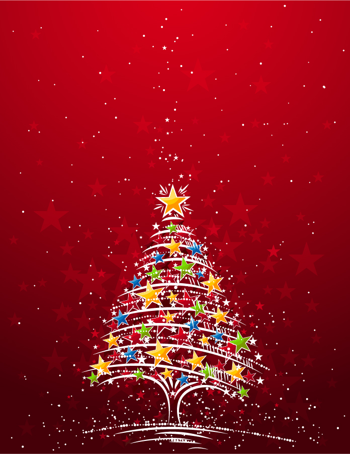 Free Vector FLASHING CHRISTMAS TREE VECTOR MATERIAL