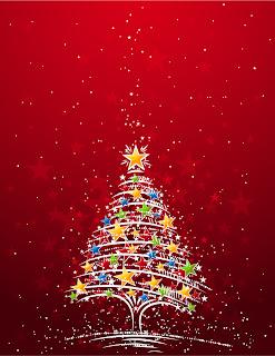 輝くクリスマス・ツリーのデザイン FLASHING CHRISTMAS TREE VECTOR MATERIAL イラスト素材5