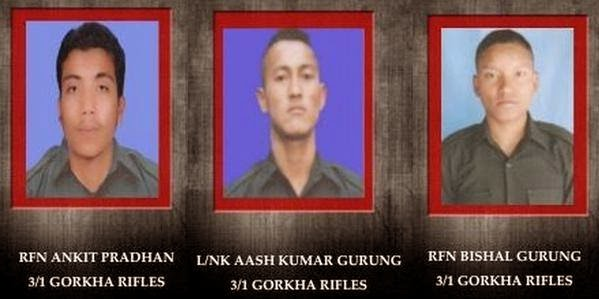 3 gorkhas of 3/1 GR dies fighting for the nation against terrorists