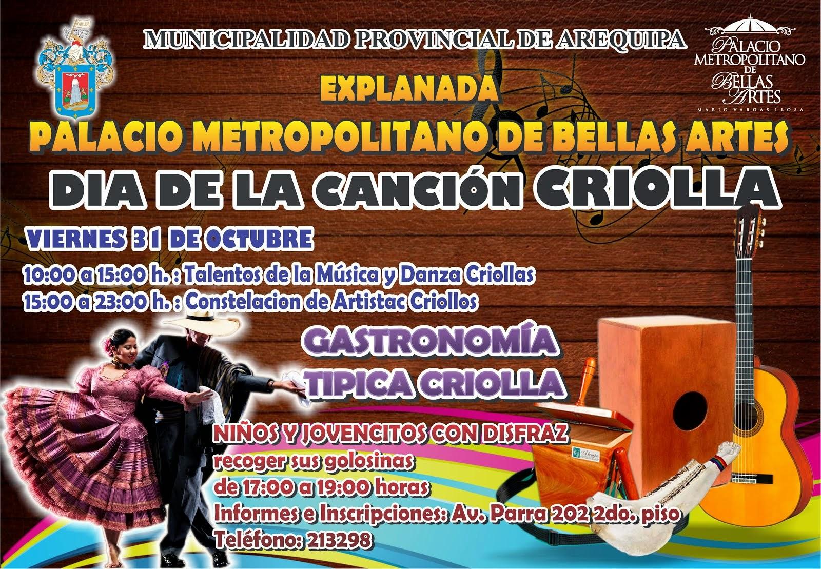 FESTIVAL DE MÚSICA Y DANZAS POR EL DÍA DE LA CANCIÓN CRIOLLA