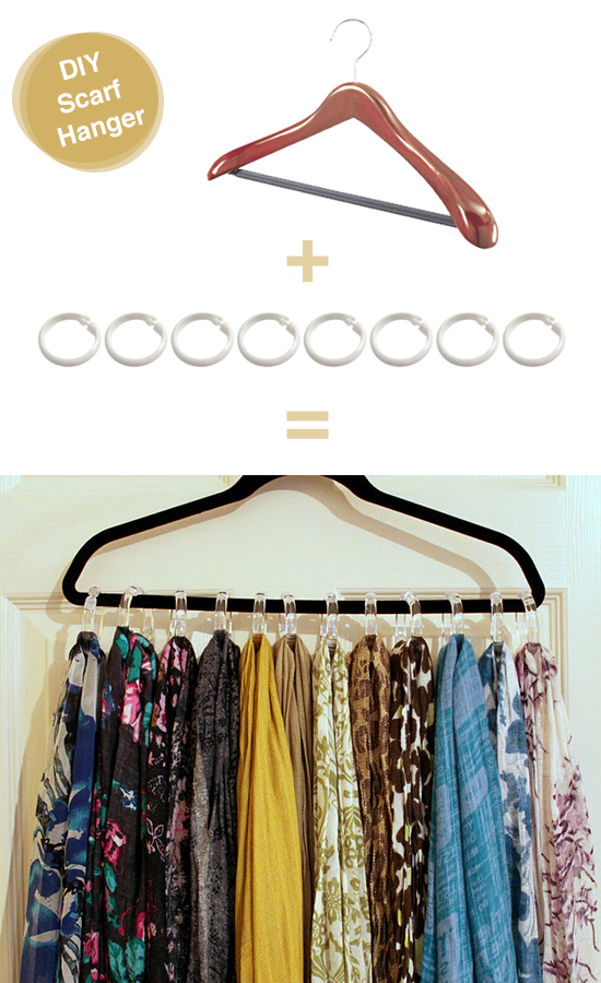 the of everything else diy scarf tank top hangers