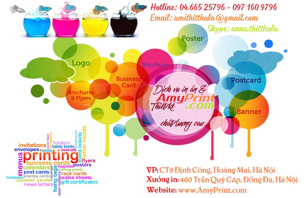 Dịch vụ Thiết kế In ấn quảng cáo Mỹ thuật chất lượng cao AmyPrint tại Hà Nội