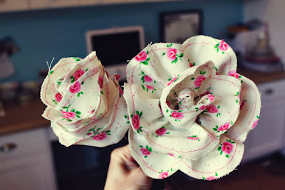 Объемные цветы ткани своими руками 184