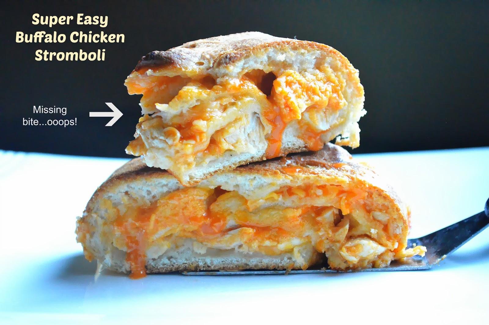Quick & Easy Buffalo Chicken Stromboli - Souffle Bombay