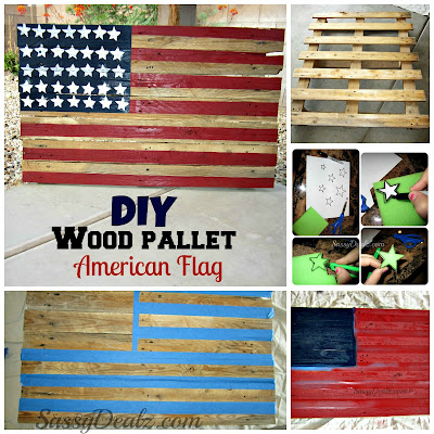 diy wood pallet american flag tutorial