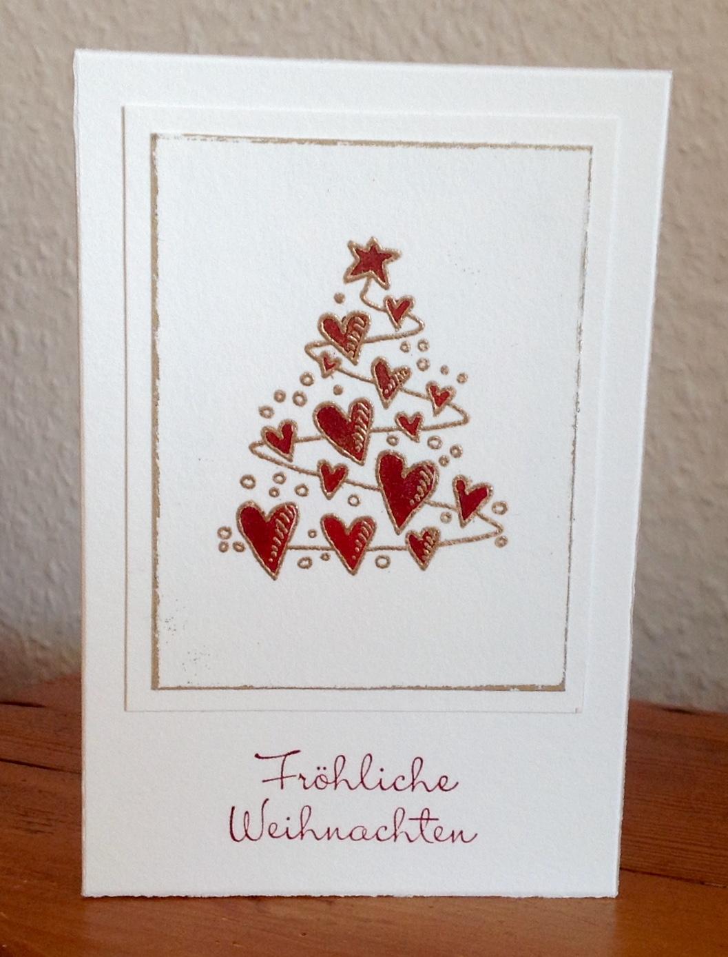 """Textstempel """"Fröhliche Weihnachten"""" von Stampin´up"""