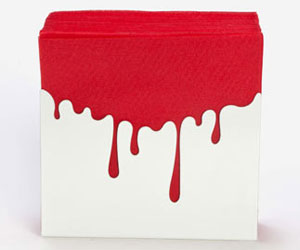 Blood Drip Napkin Holder Northmans Party Vamps
