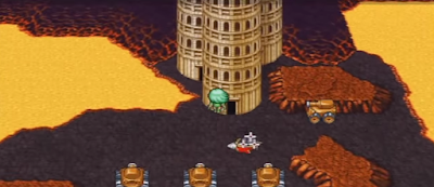 The Tower of Babil, the final dungeon in Final Fantasy IV -Interlude-.
