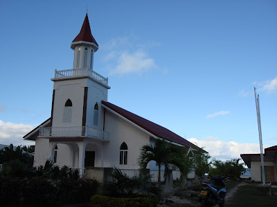 (Tahitti) - Bora Bora Island - Maohi Protestant Church on  Anau