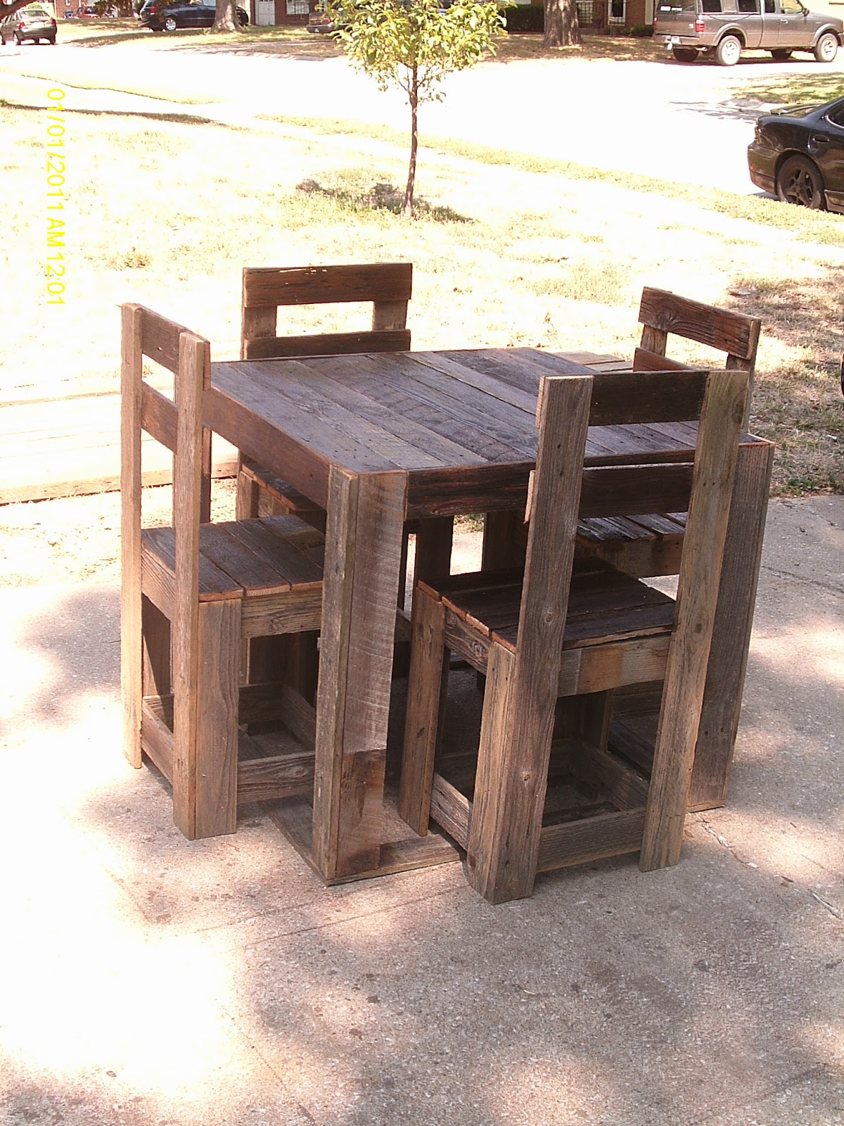 Handmade Rustic Log Furniture Rustic Mahogany Door Dining Table And Reclaimed Fenceboard