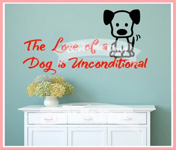 The Love of a Dog Wall Decal