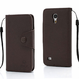 Leather Case Wallet With Credit Card Slot for Samsung Galaxy S4 Mini I9195 I9192 - Coffee