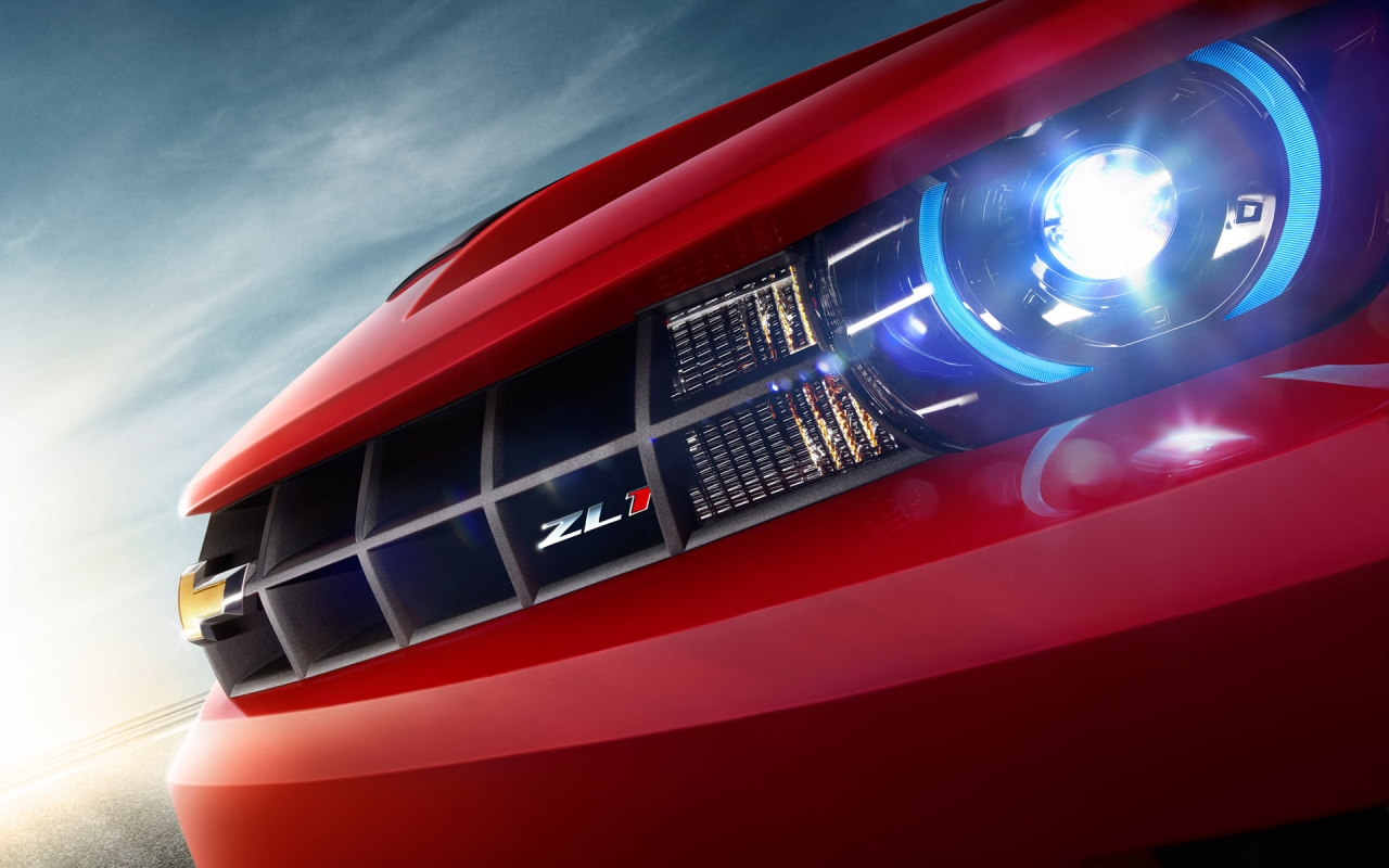 Chevy Camaro ZL1 Headlight - 2012, HD Wallpaper