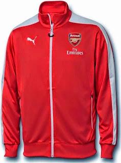 jaket arsenal puma, warna merah, tempat jual jaket arsenal puma