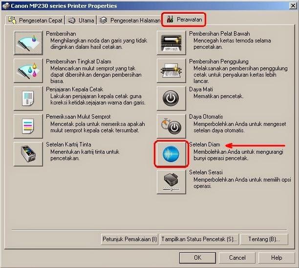 Cara setting mode diam secara otomatis di jam tertentu pada printer canon