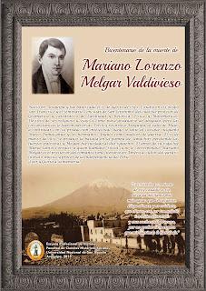 BICENTENARIO DE LA MUERTE DE MARIANO LORENZO M ELGAR VALDIVIESO