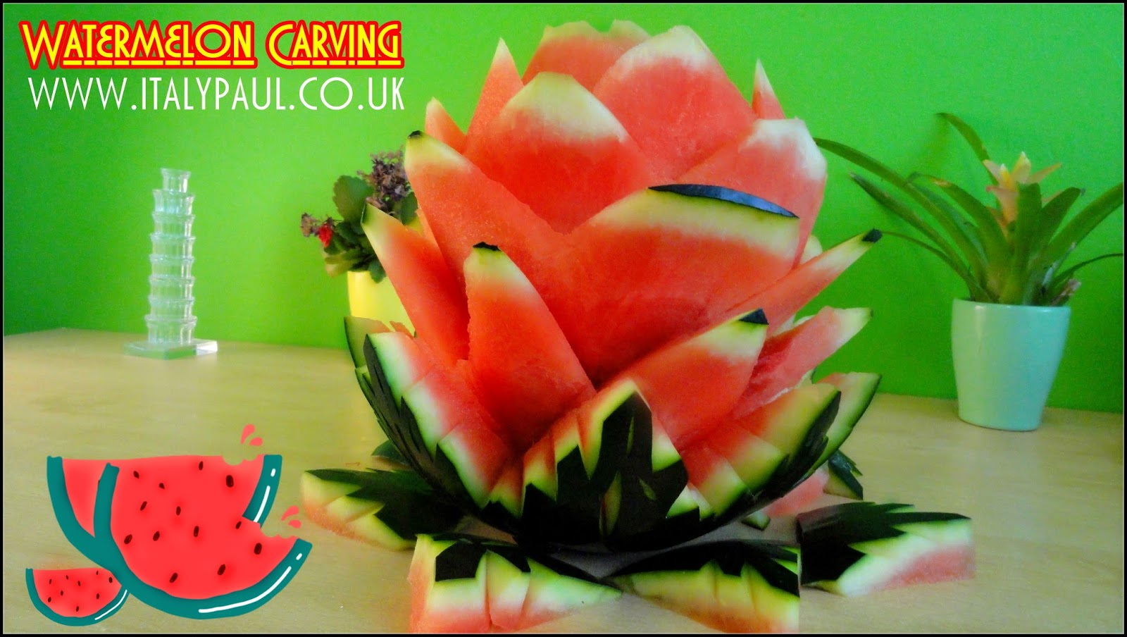 Italypaul art in fruit vegetable carving lessons august