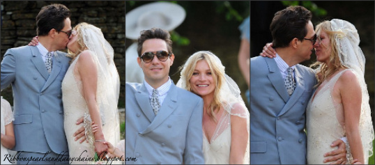 Ribbons, Pearls & Daisy Chains: Kate Moss Wedding