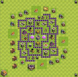 Formasi Base Clash of Clans TH7 Farming
