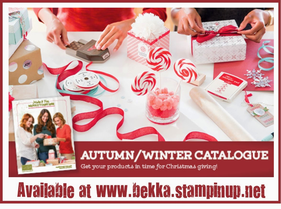 The new Autumn Winter Catalogue from Stampin' Up! available at www.bekka.stampinup.net