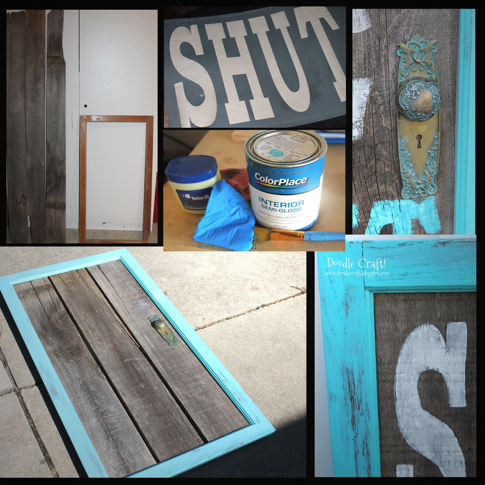 Doodlecraft a little aqua door for 1 2 shut the door