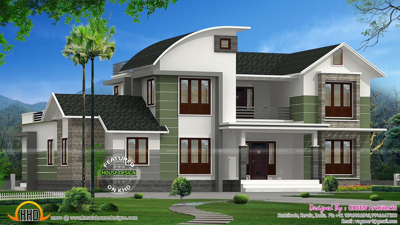 Modern Mix 2200 Sq Ft Home Kerala Home Design And Floor