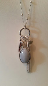 Grey Pendant necklace