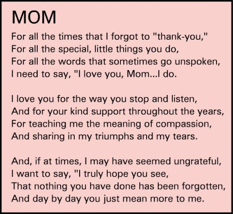 I Love You Quotes To Mom : ... go unspoken, I need to say, I love you, Mom... I do. ~ God is Heart