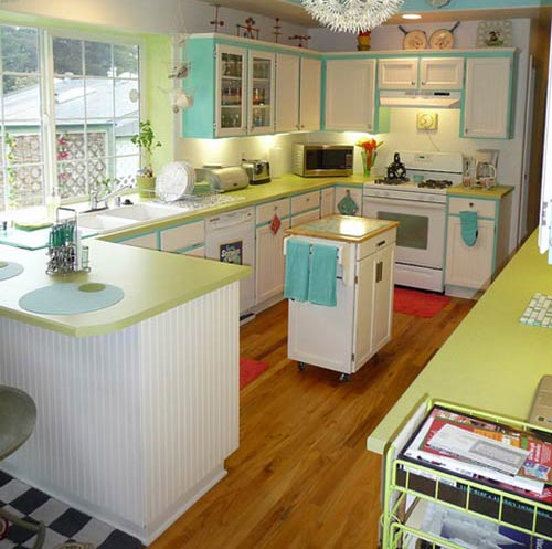 Retro Green Kitchen: Circus Of Cakes: Candy Colored Kitchens