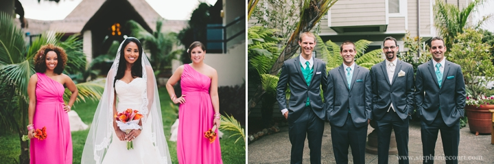 """vibrant colorful wedding party photos"""