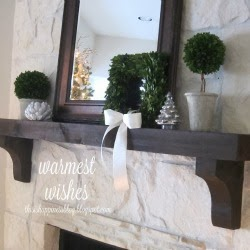 boxwood christmas mantel