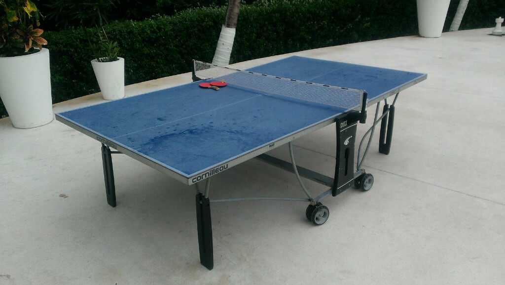 blue table tennis ping pong table