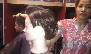 bới tóc cô dâu, dạy nghề tạo mẫu tóc nam nữ tại hà nội