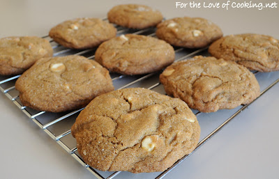 Soft Gingersnap Cookies with White Chocolate Chips | For the Love of ...