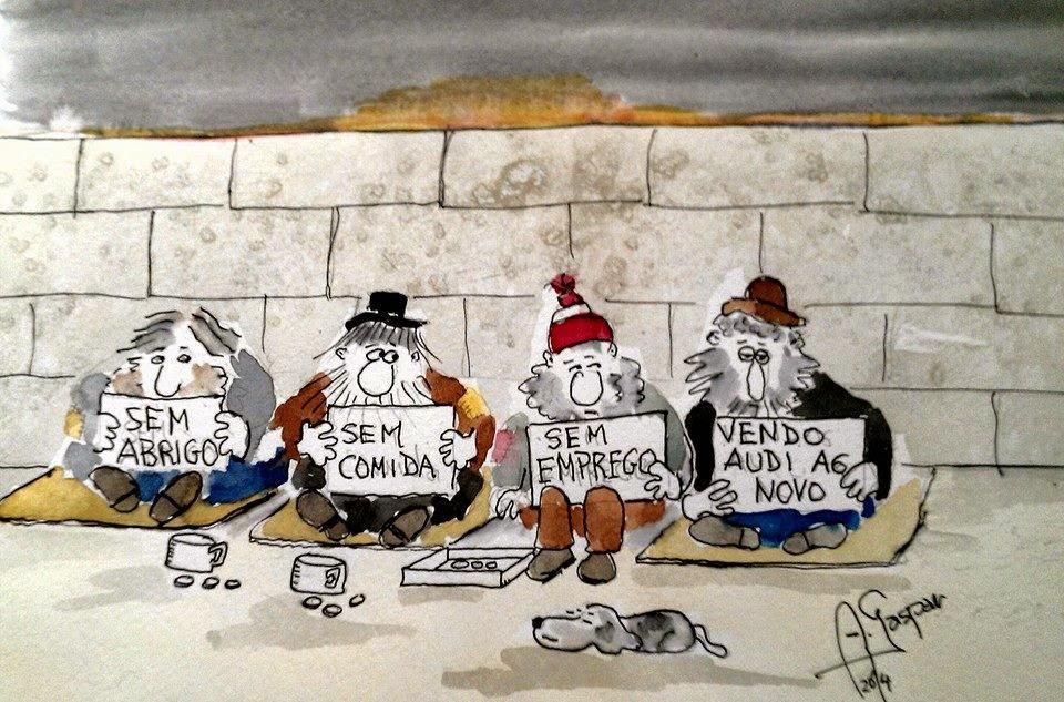 Sem Abrigo, Homeless, Sem Comida, Sem Emprego, Desempregado, Unemployed, Vendo Audi A6, António Gaspar, Sorteio do Fisco, Portugal