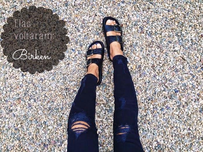 tendência birken verão sandália rasteirinha